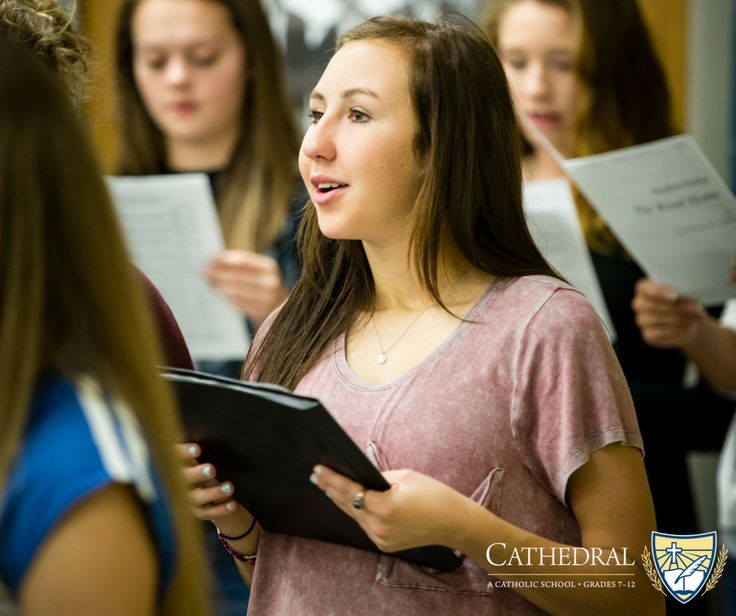 Cathedral High School offers a balanced, qualitative educational program which serves the physical, emotional, social, intellectual and spiritual/moral needs of its students. This means that among other opportunities we offer an education that covers a variety of subjects. Learn more about our academics at cathedralcrusaders.org/academics