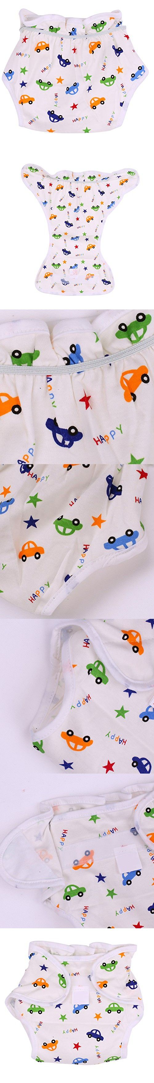 Easydeal Baby Girls Washable Cotton Training Pants Kids Potty Diaper Nappy Underwear (90 for 1-2Y, Car)
