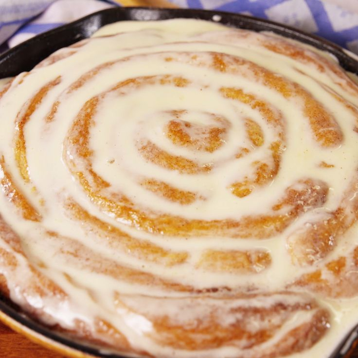 Because one giant cinnamon roll is obviously better than one regular sized cinnamon roll. Minus cream cheese