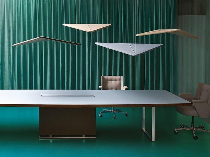 Ilôts acoustiques en fibre minérale Collection Kite by ESTEL GROUP | design Jorge Pensi
