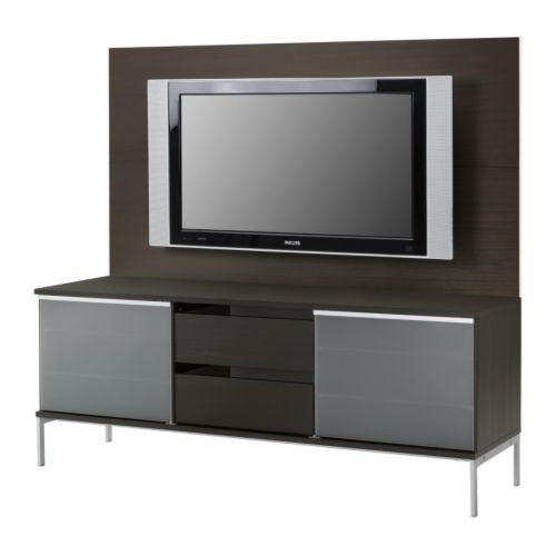 TOBO TV panel media storage, black-brown, IKEA