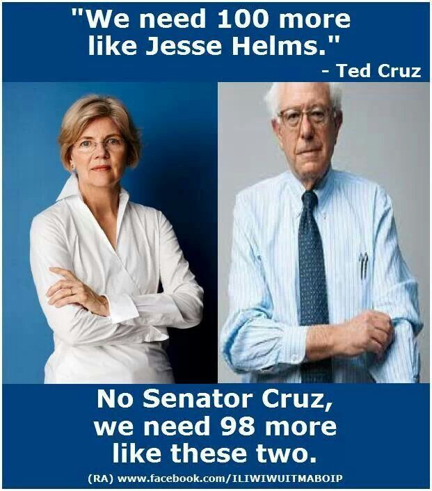 Elizabeth WARREN and Bernie SANDERS working for WE THE PEOPLE!   ~   YES they are! 2016 Presidential Ticket!!!!!!