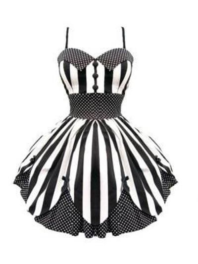 For a whimsical/carnival theme senior girl- this would photograph great! Hell Bunny Black Chopin Sue Mini Dress