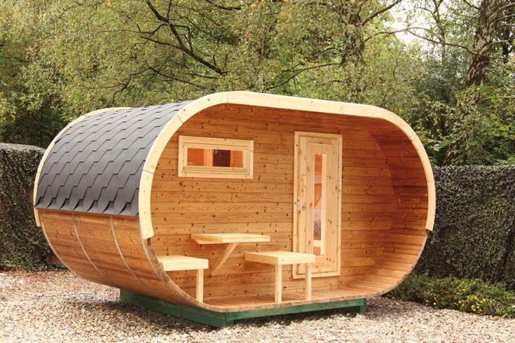 Saunahaus WOLFF Ovales Saunahaus mit Vorbau Gartensauna, Aussensauna Holzsauna - Mit dieser Gartensauna sind Sie ganz vorn dabei....