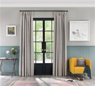 Pencil pleat curtains in Cirrus