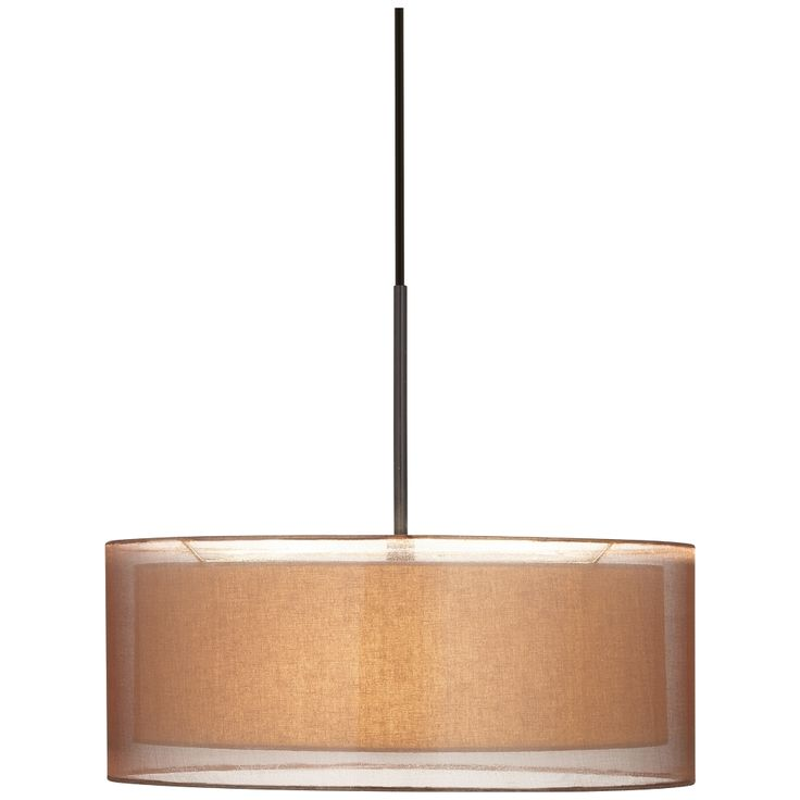 "Possini Euro Double Shade 20"" Wide Bronze Pendant Light - Style # 2M661"