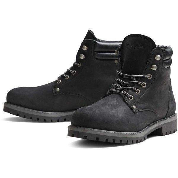 Jack & Jones Mens High Warm Nubuck Stoke Boots Black Shoes | Jean... ($84) ❤ liked on Polyvore featuring men's fashion, men's shoes, mens hi tops, mens high top shoes, mens shoes, mens black high top shoes and mens hi top shoes