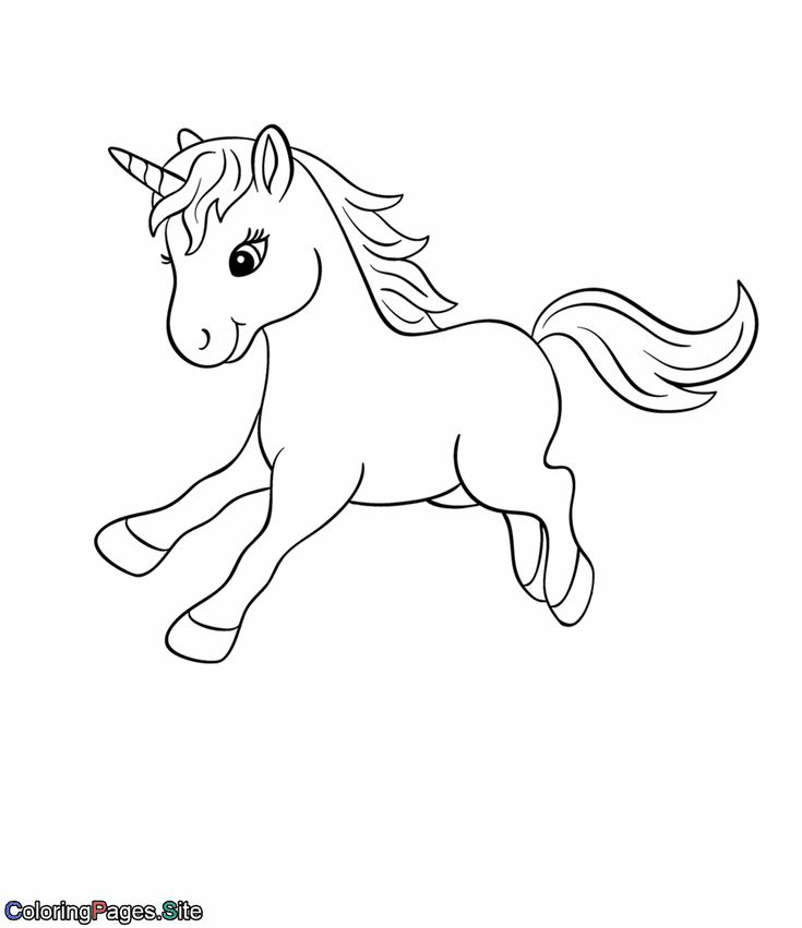 Baby unicorn coloring page Unicorn coloring pages, Cute
