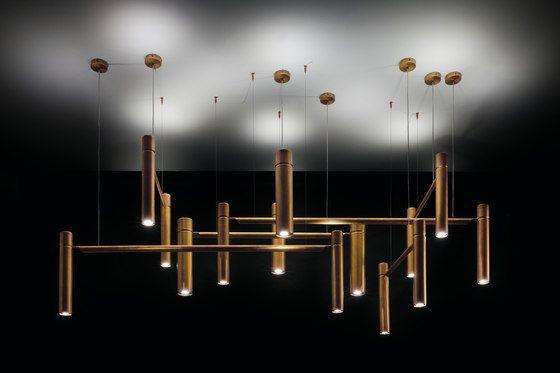 Tubular Horizontal. Ceiling by HENGE   Pendant lights in metal