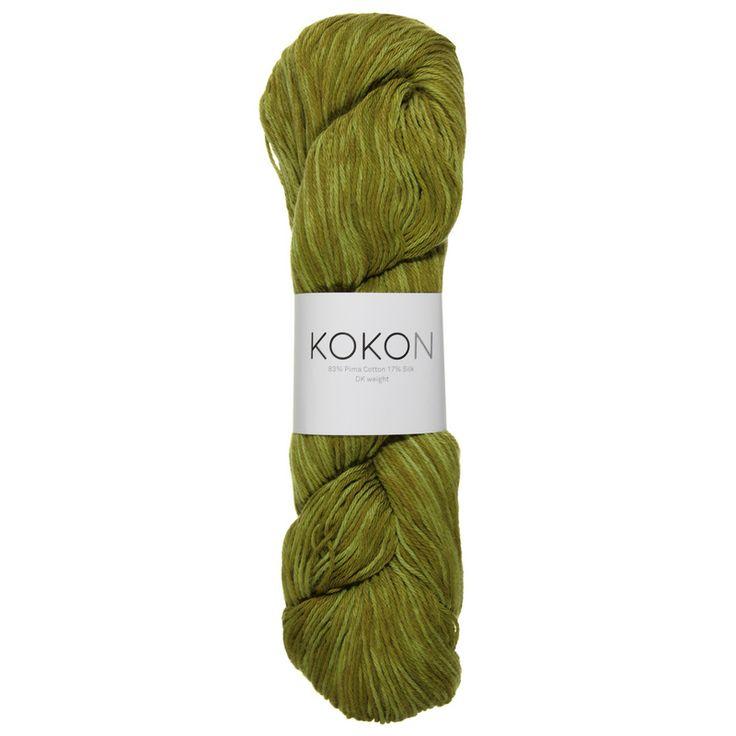KOKON DK cotton silk yarn in the colour Cacti. Available from #kokonyarn