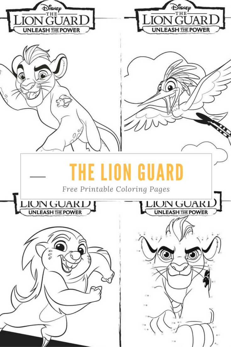 Unleash the Power with these great The Lion Guard coloring
