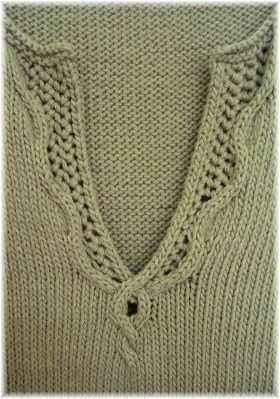 Nice neckline detail.....Ravelry: Margaux pattern by Norah Gaughan