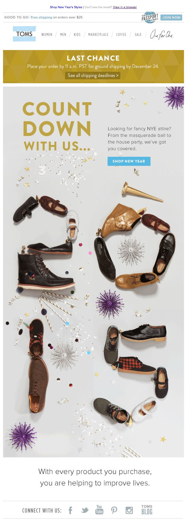 TOMs holiday email 2014