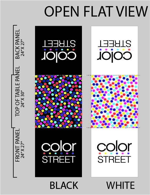 Custom Color Street Table Runner White Or Black With Dots On The