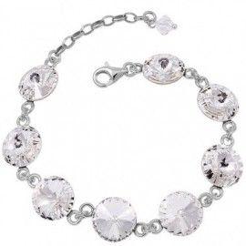 Bratara eleganta cu cristale swarovski http://www.bijuteriifrumoase.ro/cumpara/rivoli-r-10-bracelet-mireasa-3235