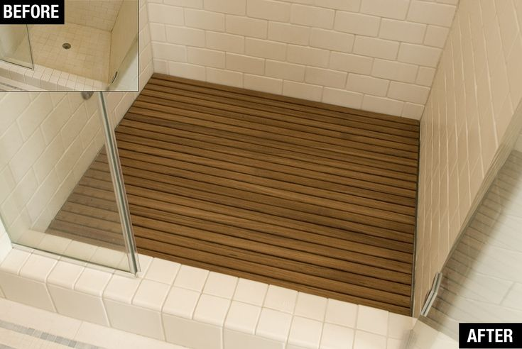 Custom Teak Bath Mats : Before and After Pictures : Teakworks4u
