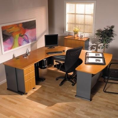 - Series A / Advantage in Medium Cherry - Bush Office Furniture