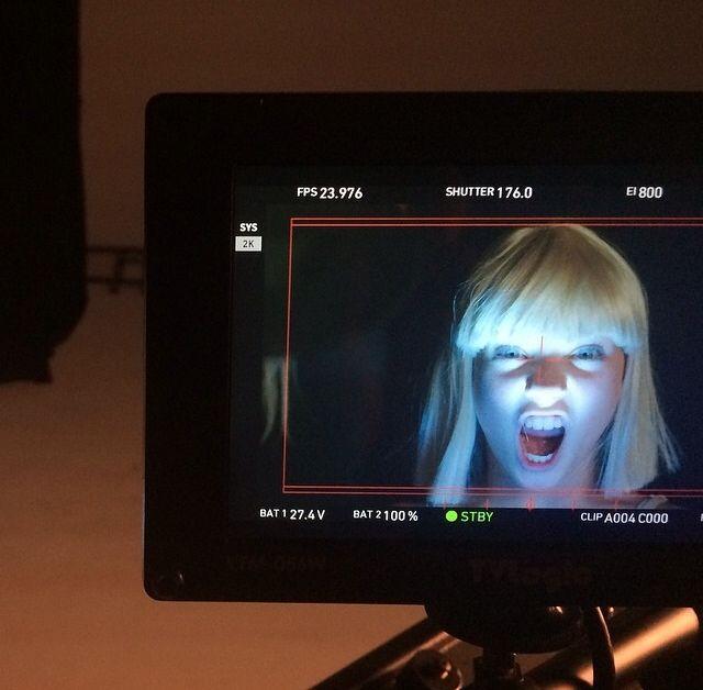 "Behind The Scenes Pics Of Sia's ""Chandelier"" Music Video ...  |Maddie Ziegler Chandelier Behind The Scenes"