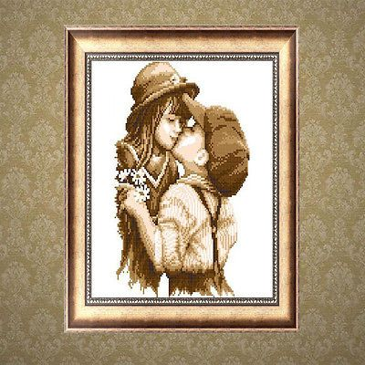 DIY 5D Diamond Little Lovers Painting Cross Stitch Embroidery Craft Home Decor