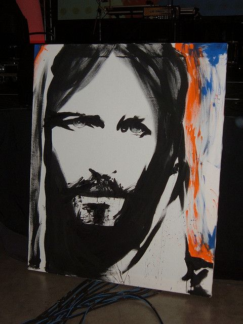 I saw the artist paint this live at Women of Faith 2012. It is stunning