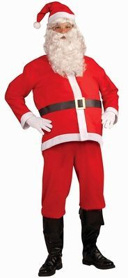 Disposable Santa Suit - the ultimate cheap Santa costume for a pub crawl or Santa-con