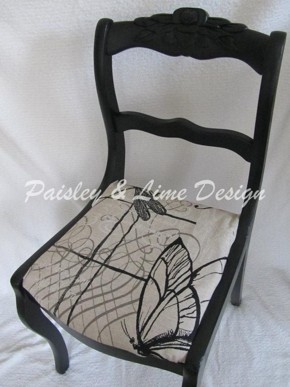 Duncan Phyfe Updated Rose Back Chair by PaisleyandLime on Etsy, $135.00