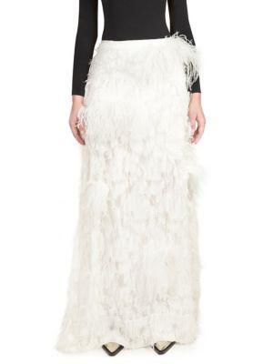 64249cee9 Marques'Almeida - Feather Maxi Skirt | Maxi faldas | Pinterest ...