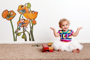 Poppy Pools removable wall decal $59 with free postage!