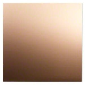 "JSH-4814  26ga Half-Hard Copper Metal Sheet - 6x6"" sheet"