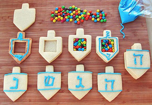 Dreidel Surprise Cookies - decorating steps