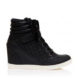 Effortlessly chic, Malak Wedge Sneakers are perfect for busy days and casual nights.