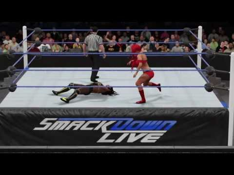 WWE 2K16: Naomi vs. Eva Marie (Smackdown Live August 16, 2016)