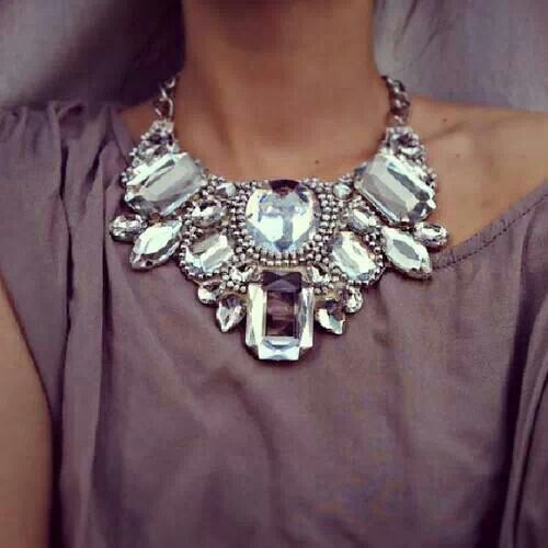 statement necklace. I'm not a big fan of these huge chunky necklaces but I like this one.