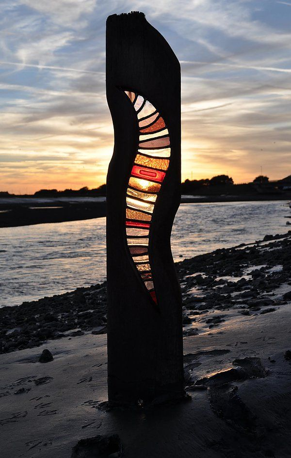 louise v durham: Stained Glass Sculptures