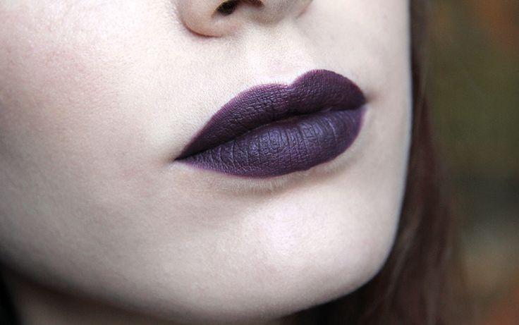 nyx full throttle lipstick night crawler swatch ...  nyx full thrott...