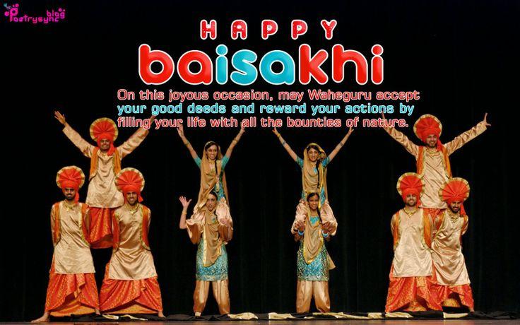 Happy Baisakhi Bhangra Image with Vaisakhi Wishes