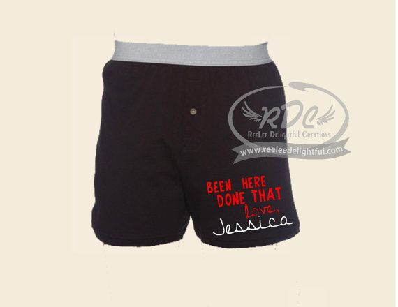 Funny Custom Valentines Day boxers, Gifts for him, Groom, Wedding gift ...
