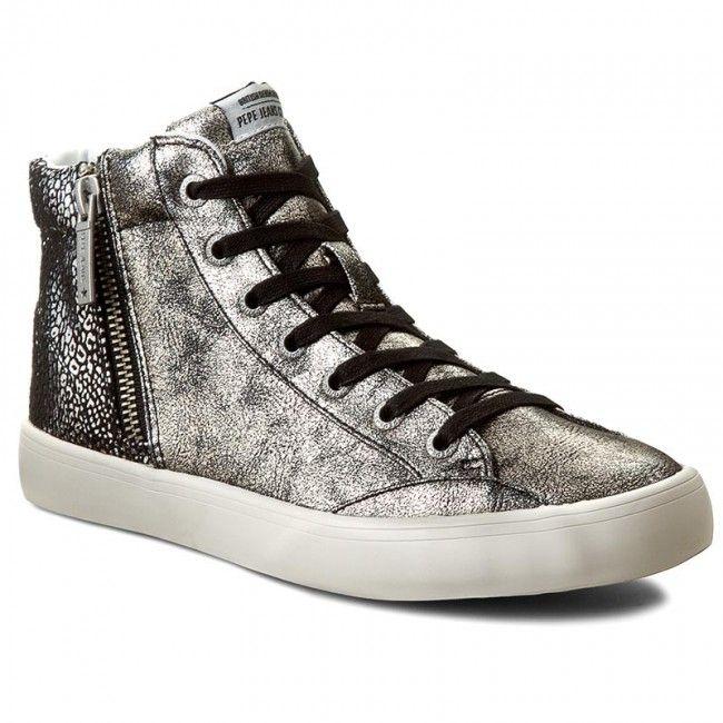 Sneakersy PEPE JEANS - Clinton Break Metal PLS30393 Chrome 952