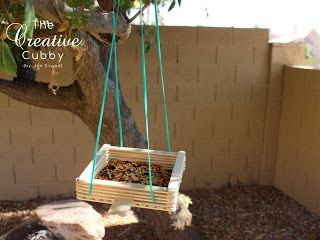 Popsicle Stick Bird Feeder - Welcome to the Daisy Flower Garden  Journey and/or Rosie Petal