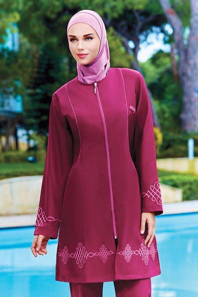 """Easy to use and comfortable """"enjoy with a great swimsuit""""  code : 0087  Tesmay   Fabric Info: 20% Lycra, 80% Polyamide  https://hijablooms.ca/collections/swimsuits/products/swimsuets-5?utm_content=bufferd0ab8&utm_medium=social&utm_source=pinterest.com&utm_campaign=buffer"""
