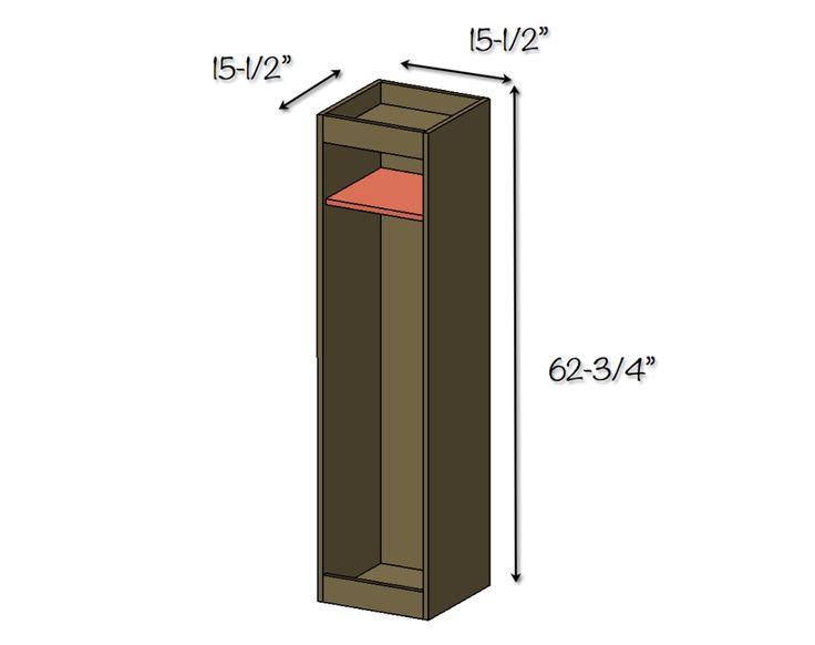 DIY Golf Bag Caddy - Dimensions