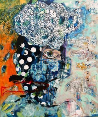 "Saatchi Art Artist RENATA KACOVA; Painting, ""WITHOUT  WORDS"" #art"