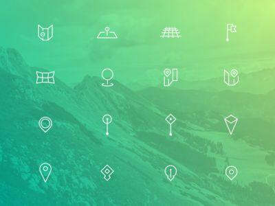 Pin Icons Set