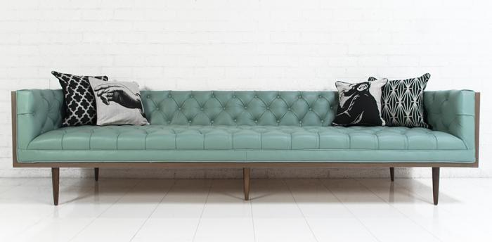 Furnishings and Decor: Neutra Sofa in Dreamer Aqua