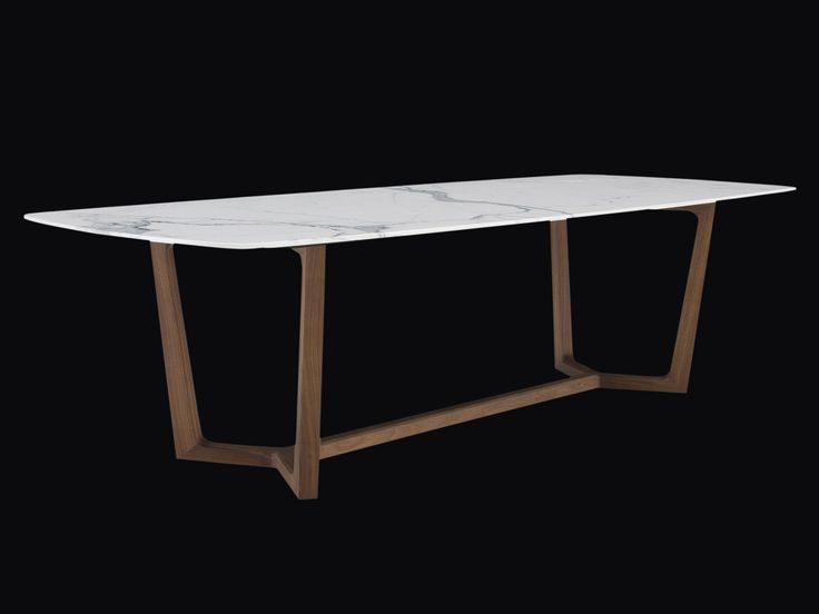 Table rectangulaire en marbre CONCORDE Collection Concorde by Poliform | design…