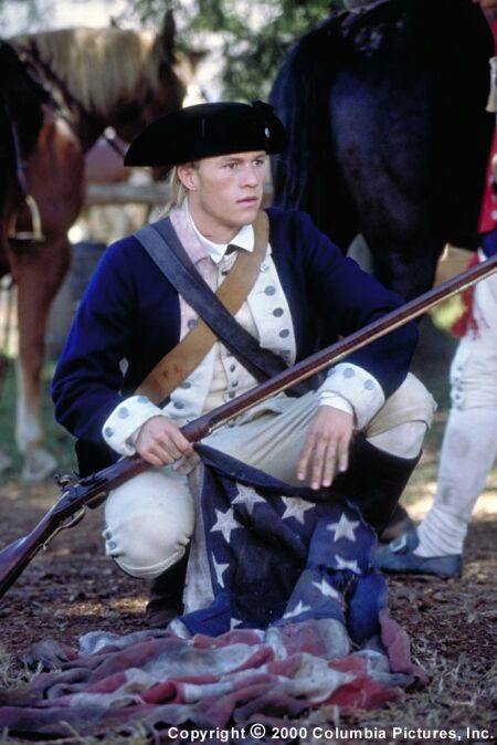 The Patriot- literally my favorite character in a movie ever!!  Gabriel, no one has ever looked better in a tri-cornered hat