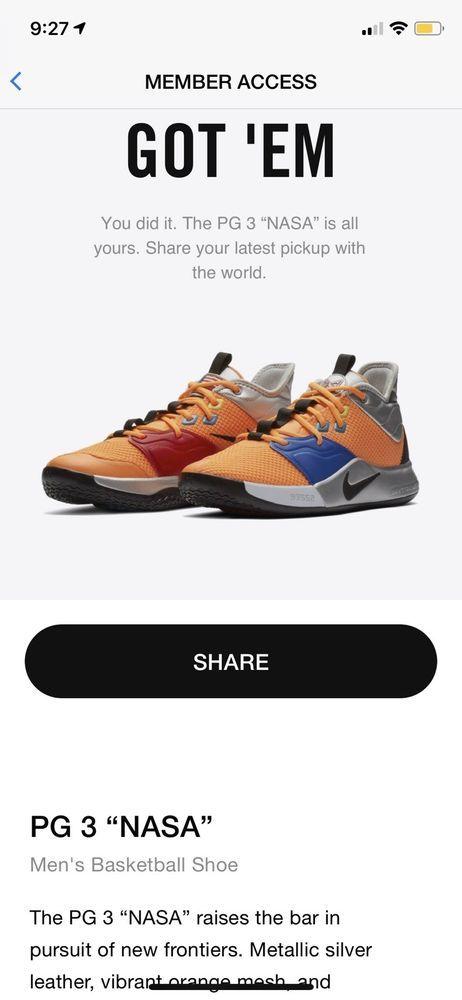 promo code 2ac32 546a1 Nike PG 3 Nasa Orange