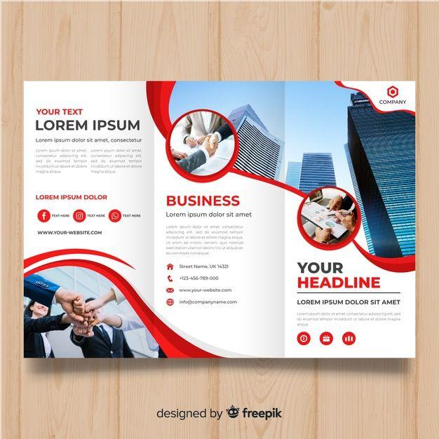 Business dreifach gefaltete Broschüre Vorlage Free Vector