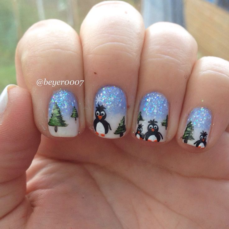 Penguin Nail Art Designs: 101 Best Penguin-Nail Art Images On Pinterest