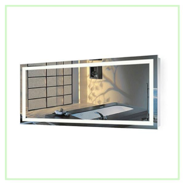 Gallery For Website Large Inch X Inch LED Bathroom Mirror Lighted Vanity Mirror Includes Dimmer u Defogger